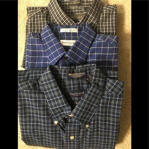 Men's long sleeve oxford shirts, lot of 3.